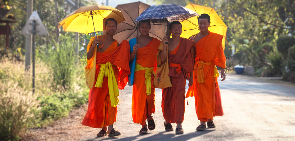 Young Buddhist Monks, Laos