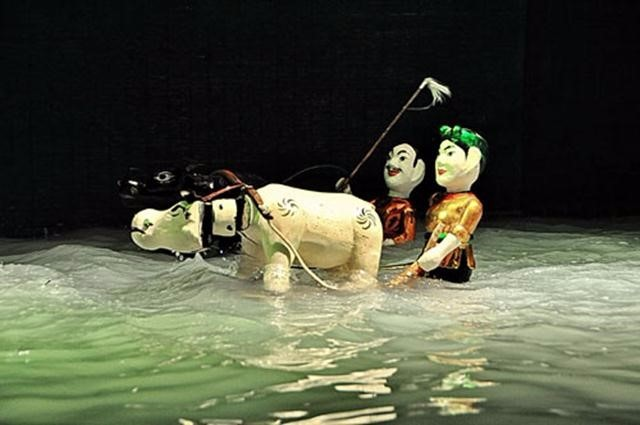 A Water Puppet Show in Hanoi