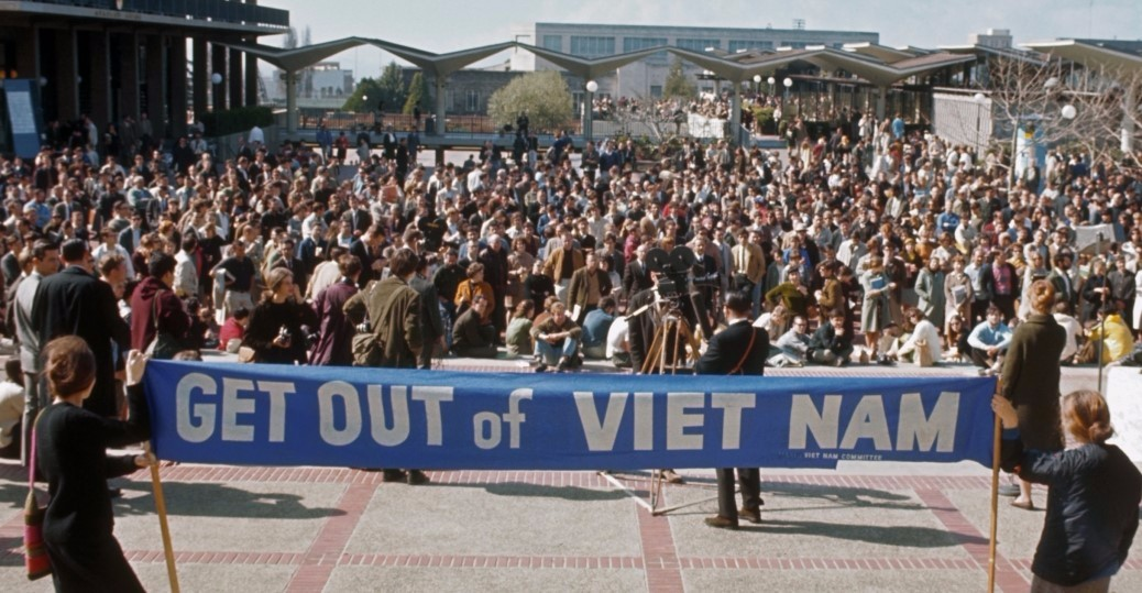 Prostesting against Vietnam war